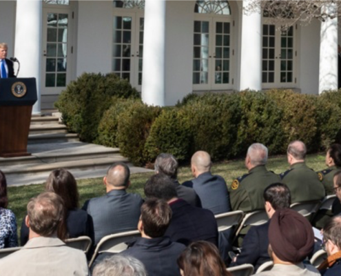 President Trump at the White House